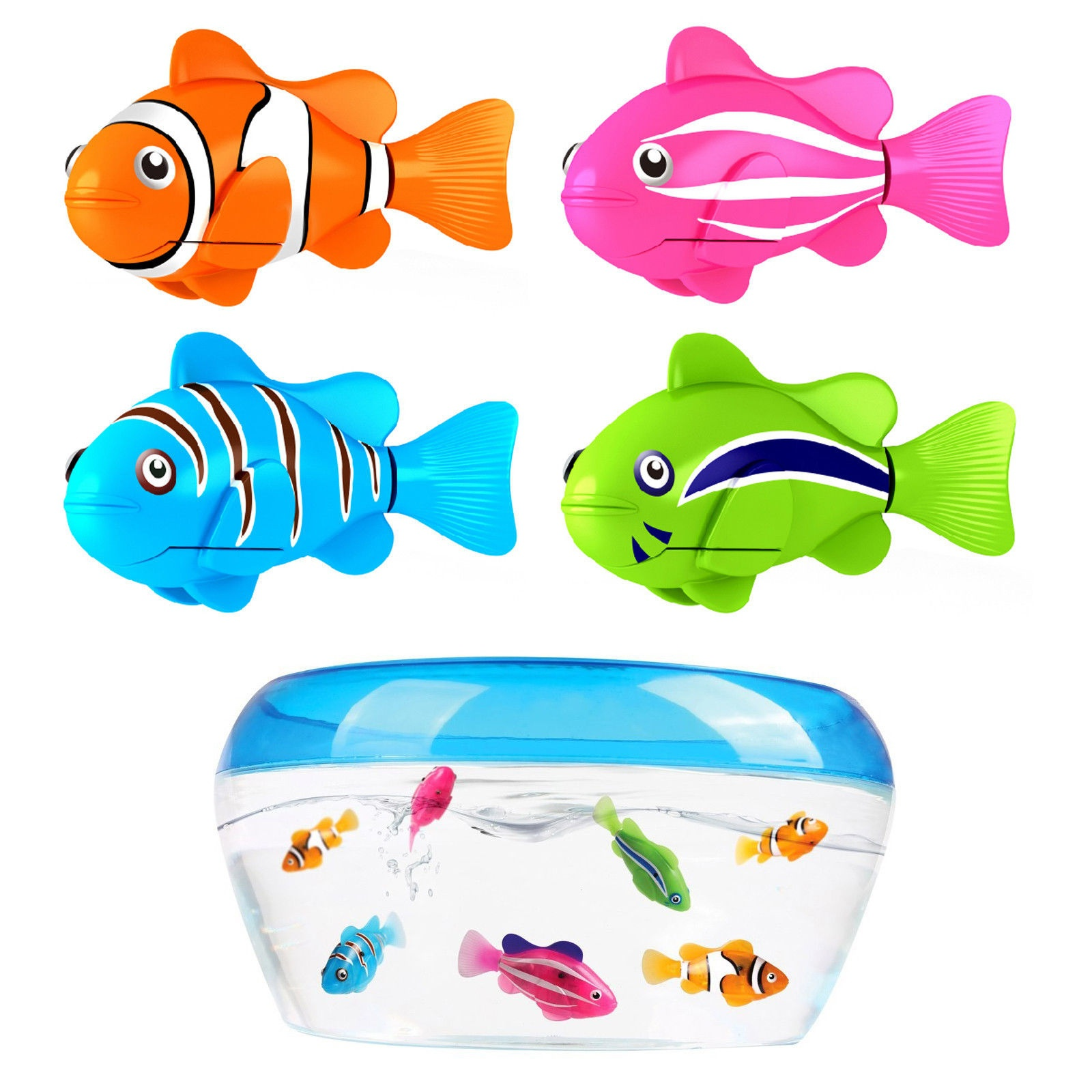 2018 New Funny Toy Clownfish Nemo Robo Robotic Fish Water Activated Kids Boys Girls Toy 88 цена