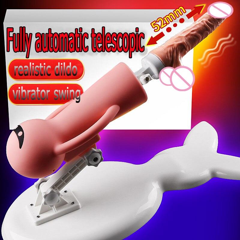 Fully automatic telescopic female masturbator sex machine male penis dildo stimulation massage vagina Detachable erotic product
