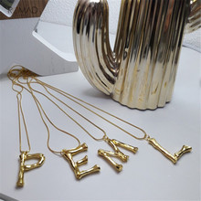 купить Romad A-Z Initial Letters Necklace Women Gold Silver Color Chain Letter Alphabet Pendant Necklace For Women Jewelry дешево