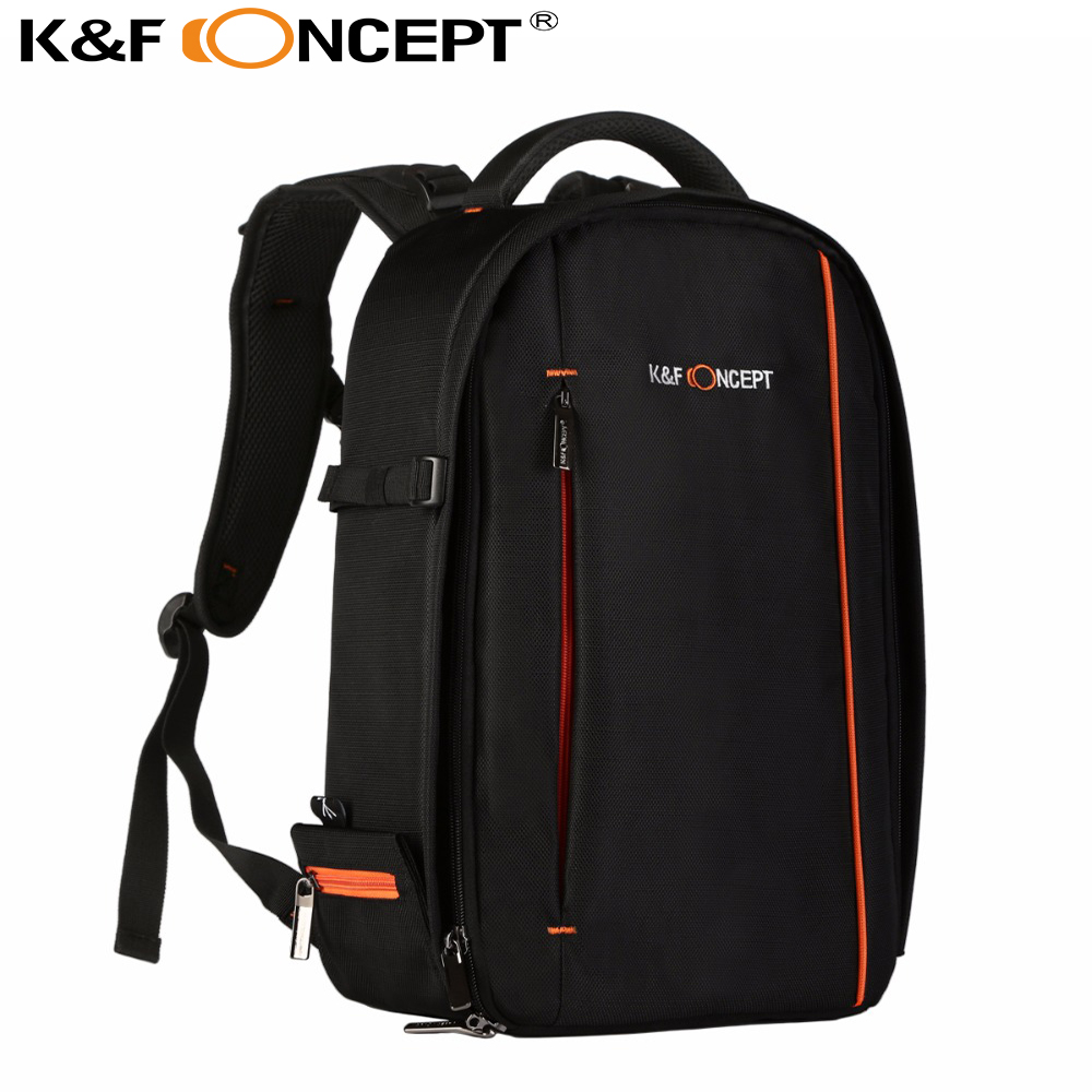 K&F CONCEPT Large Waterproof DSLR SLR Camera Backpack Rucksack Bag Case  Black for Canon for Nikon for Sony for Fuji Cameras free shipping camera bags deluxe dslr slr camera backpack rucksack bag case raincover for nikon sony canon photo bag for camera