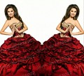 Vestidos De Formatura 2016 Custom Made Vestidos De baile De máscaras De alta qualidade Red Quinceanera Vestido De 15 Anos