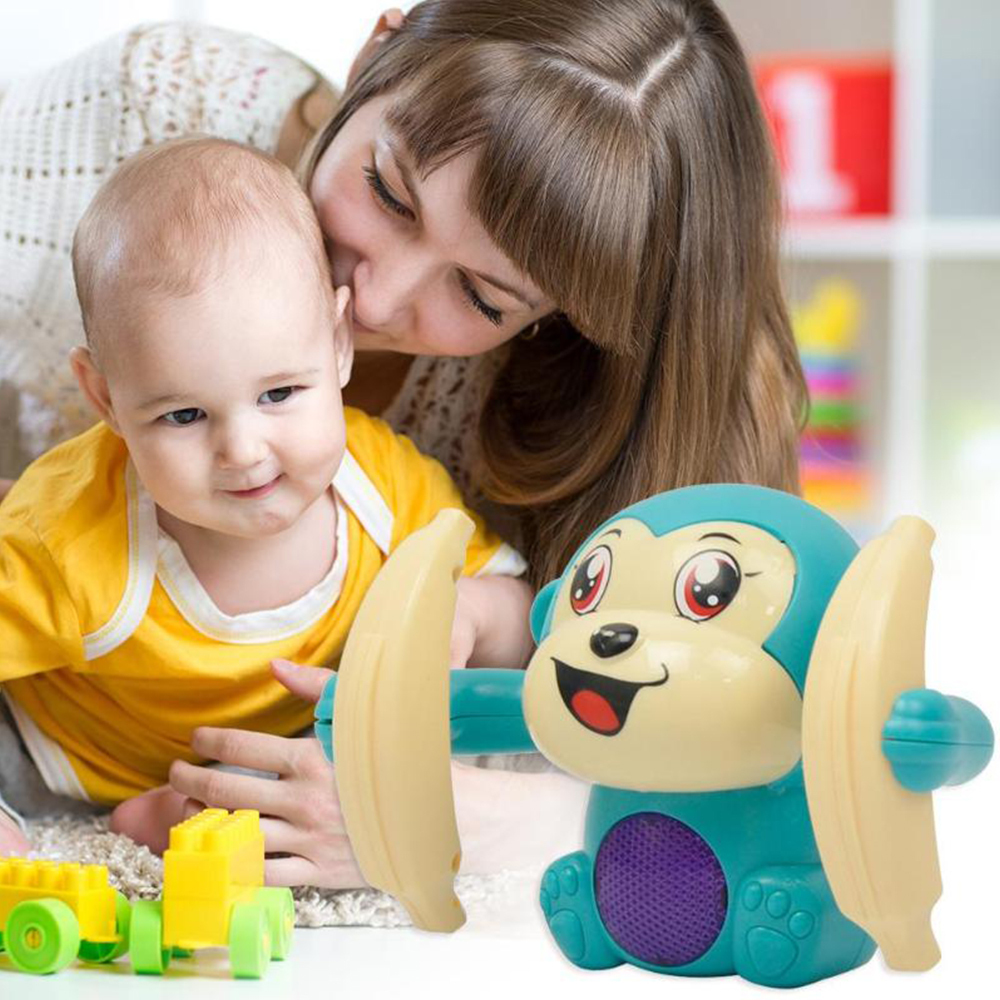 Fun Rolling Doll Electric Tumble Monkey Toy Voice Control Animal Modern Plastic Cartoon Educational Toys For Children