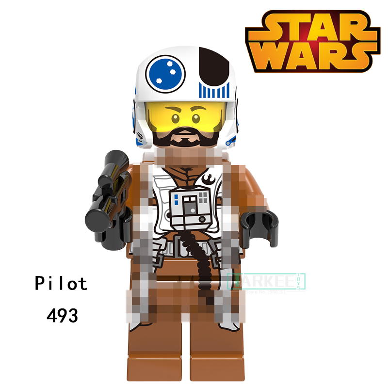 Building Blocks Pilot Princess Leia Ponda Baba Zander Super Heroes Star Wars Bricks Dolls Kids DIY Toys Hobbies XH493 Figures building blocks the walking dead figures rick negan carl daryl star wars super heroes set assemble bricks kids diy toys hobbies