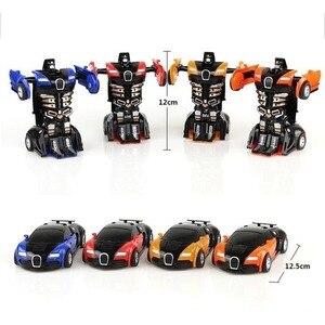 Image 5 - Robot de Transformation jouet voiture Anime figurine jouets ABS en plastique Collision transformant le modèle cadeau pour les enfants