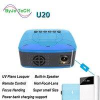 Projetor de led u20 2018*1920 portátil  mini projetor lance curta  tf usb hdmi  home theater  suporte para 1080 entrada de energia de 12v 2a