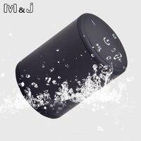 M & J T2 Mini 5 W Açık Su Geçirmez Bluetooth Hoparlör Taşınabilir Stereo Kablosuz HIFI Hoparlör Mic Ile TF Kartı seri Bağlantı