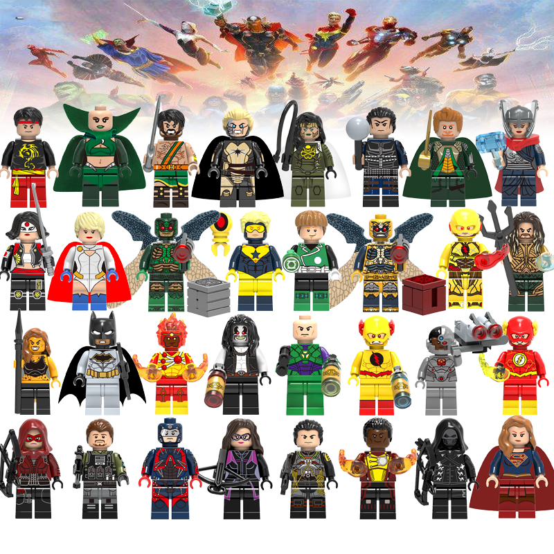 Super Heroes Figure Set Building Blocks Legoelys Avengers Iron Man Venom Justice League X-Men Batman Bricks Toys For Children