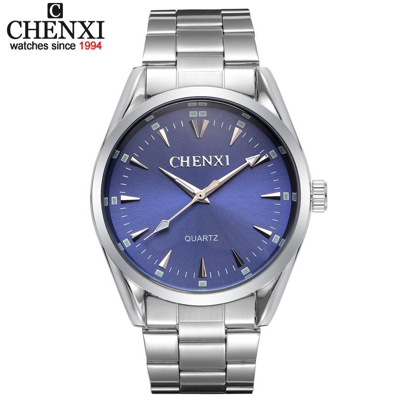 купить New arrival hardlex stainless steel quartz brand watch CHENXI clock mens wrist analog Water Resistant Fashion & Casual CX-006A