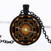 SUTEYI Fashion 2017 Buddhist Sri Yantra Pendant Necklace Sacred Geometry Sri Yantra Jewelry, Wholesale Jewelry