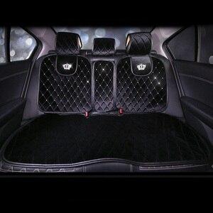 Image 3 - Housses de siège universelles pour véhicule, avec strass, jeux complets, peluche pour lhiver, coussin de siège pour véhicule, accessoires dintérieur en cristal
