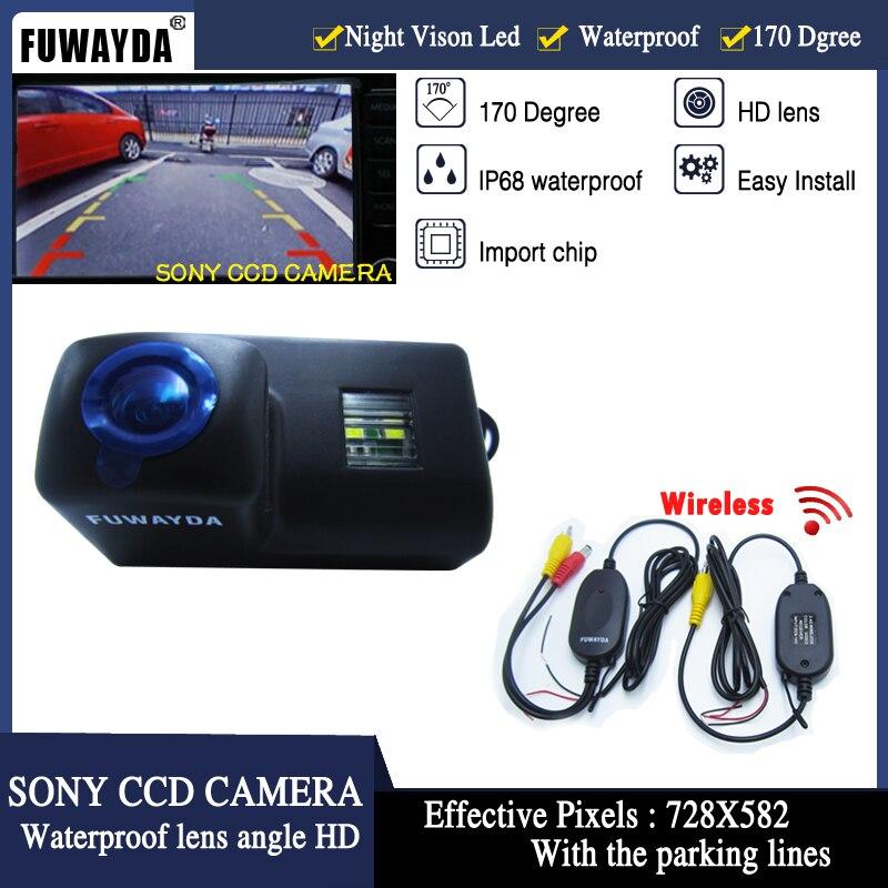 FUWAYDA Wrieless SONY CCD Caméra de Recul 420 lignes 170 large angle de vue caméra Couleur De Sauvegarde de voiture CAMÉRA pour Peugeot PartnerTepee
