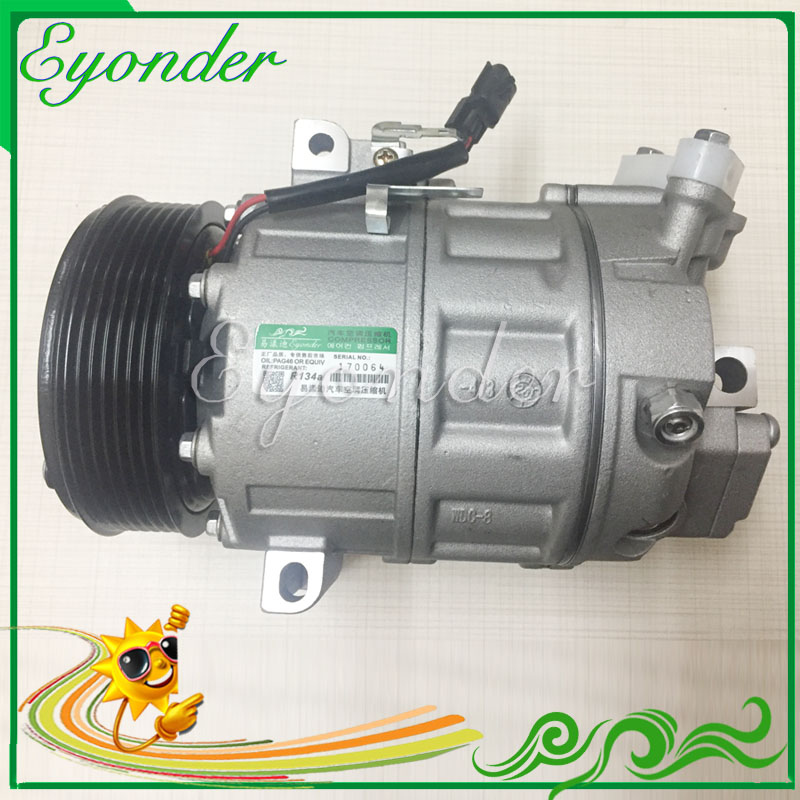 Car Aircon AC A/C Cooling Pump Air Conditioning Compressor CVC PV7 for Nissan X-TRAIL T31 Diesel 2.0 07-13 92600JD73A 92600JD74A 520w cooling capacity fridge compressor r134a suitable for supermaket cooling equipment