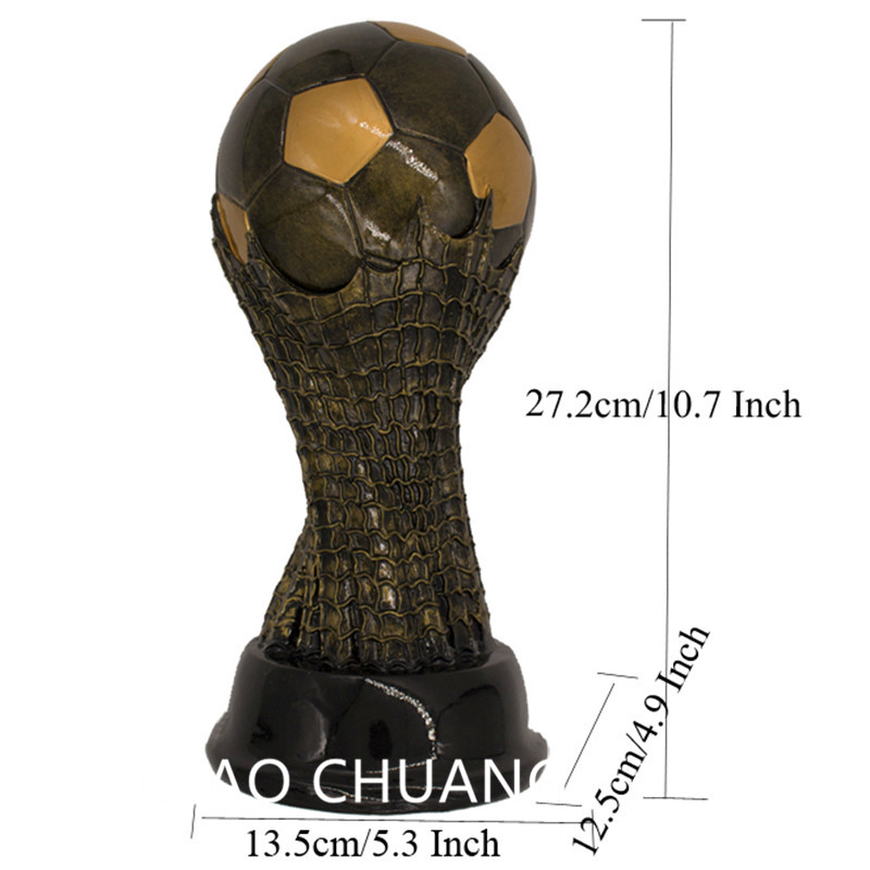 27.2cm(10.7) Resin Crafts European Cup Football Figurine Award Souvenir Football World Cup Socce Trophy Statue Home Decor S402 free shipping1 1 36cm world cup football trophy resin replica trophies model brazil world cup best soccer fan souvenir gift