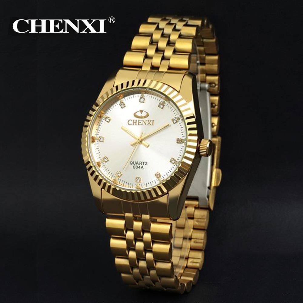 2018 Fashion Men New Luxury Gold Classic Analog Diamond Quartz Stainless Steel Wrist Watch & Wholesales