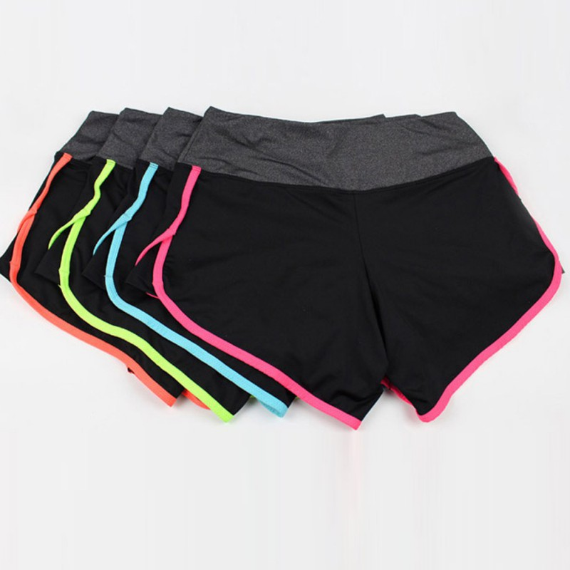Women Multicolor Stretch Shorts European Style Summer Beach Workout Fitness Hot Shorts