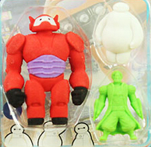 New Arrival Red Hero Rubber Eraser UFO rubber eraser fighting against White Alien Eraser MOQ 3 pieces per lot