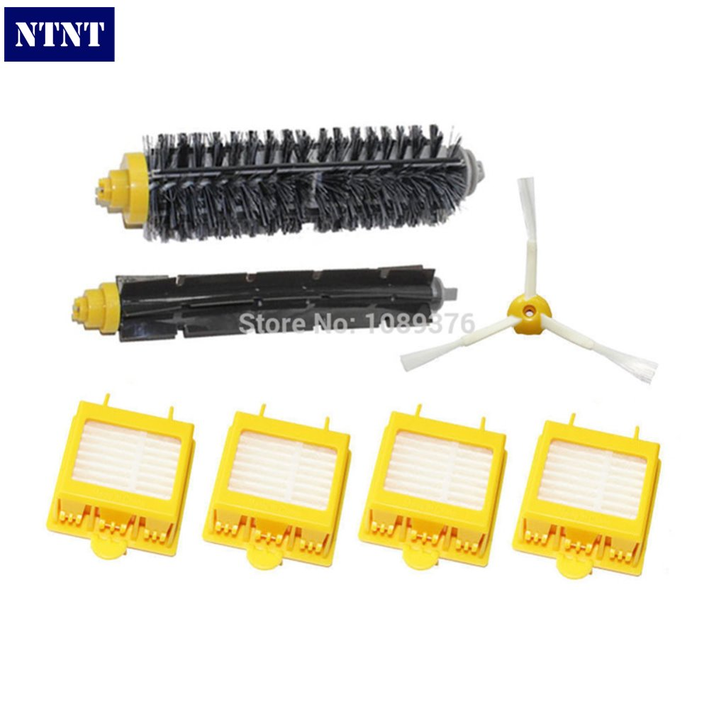 NTNT Free Post Brush 3 Armed + Filters Kit for iRobot Roomba 700 Series 760 770 780 ntnt free shipping replacement kit for irobot roomba 700 series 760 770 780 yellow brush 3 armed