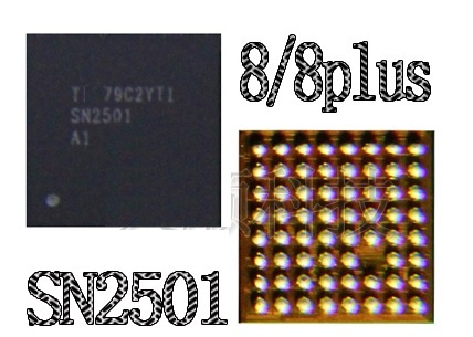 5pcs/lot NEW ORIGINAL SN2501A1 SN2501 U3300 63pin TIGRIS  charging charger ic chip for iphone 8 8plus X