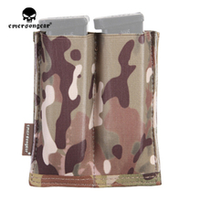 emersongear Emerson Fast Open-Top Double Pistol Magazine Pouch High Speed Molle Airsoft CS Mag Pouch Quick Draw Holster Holder emersongear emerson double mag pouch for ss vest 556 762 magazine plate pouch airsoft hunting mag holder pouch multicam