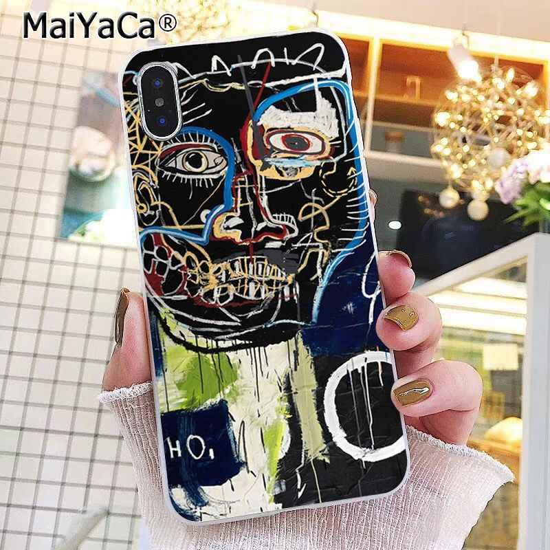 MaiYaCa Jean Michel Basquiat Art Graffiti Phone Case For iphone 11 Pro 11Pro MAX 8 7 6 6S Plus X XS MAX 5 5S SE XR 10 Cases
