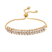 FREE DHL FEDEX 200 Brilliant CZ Stone Adjustable Bracelets With Copper Chain