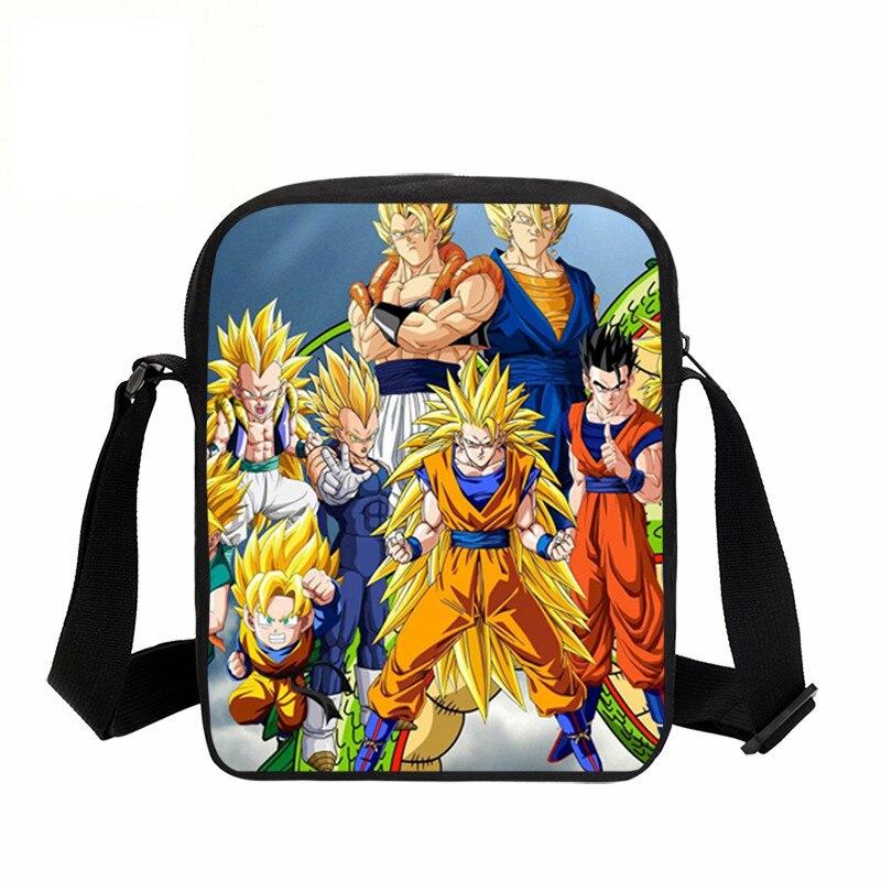 VEEVANV 3D Fashion Messenger Bags Printing Dragon Ball Xenoverse Small School Crossbody Shoulder Bag Fashion Children Satchel Ba