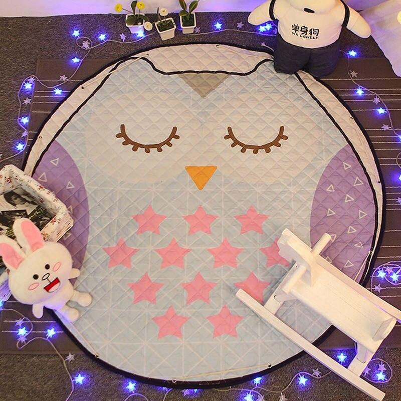 Tapis de sol Dia pour chambre d'enfants. 150 cm rond bébé tapis de jeu bébé filles garçons ramper tapis jouet organisateur de stockage pochette sacs - 6
