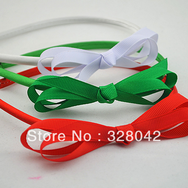NEW ARRIVEL baby girl Christmas gift  Grosgrain Ribbon bow hairband 18 colors bows  headbands hair accessory 150pcs/lot