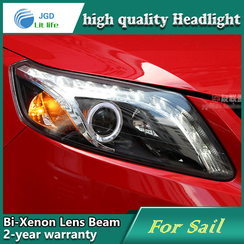 Car Styling Head Lamp case for Chevrolet Sail 2010-2014 Headlights LED Headlight DRL Lens Double Beam Bi-Xenon HID Accessories car styling head lamp case for skoda superb 2009 2013 headlights led headlight drl lens double beam bi xenon hid accessories