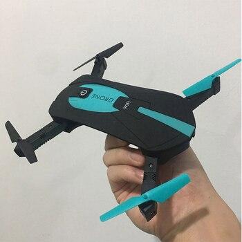 JY018 ELFIE WiFi FPV Drone RC Quadcopter Mini Dobrável Selfie Drones com Câmera de 2MP HD FPV Profissional H37 720 P RC helicóptero