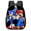 12-дюймовые школьные сумки Super Mario Bros для детского сада  книжные пакеты с звуковым принтом для детей  детская сумка-рюкзак в подарок