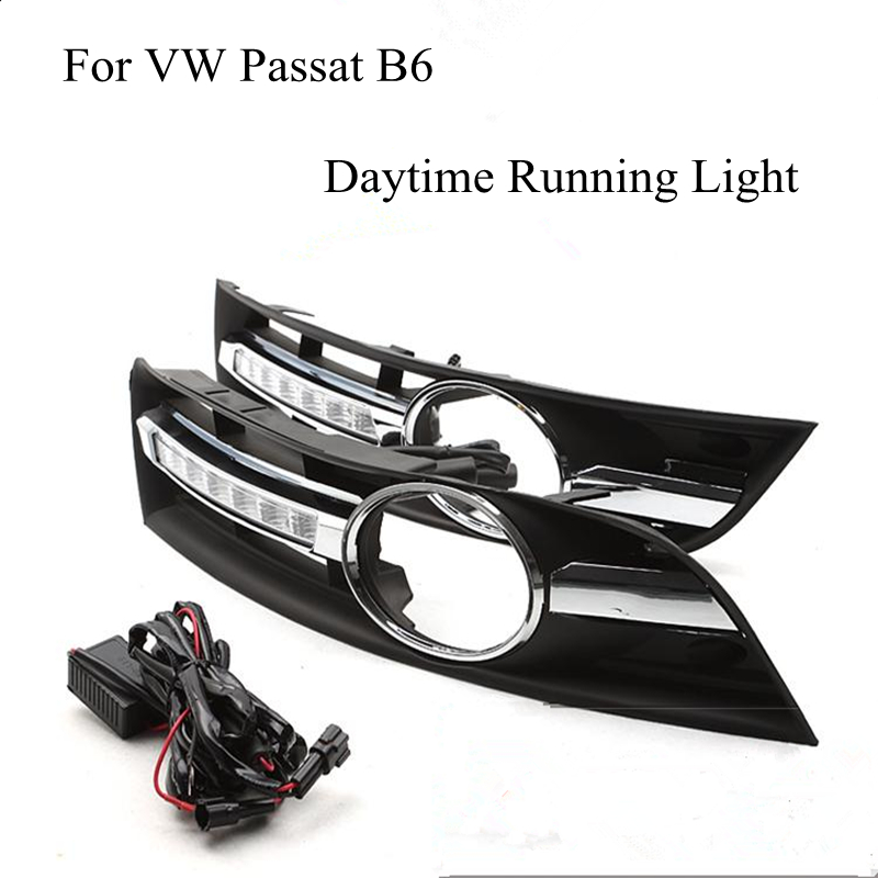 For VW Passat B6 2006 2007 2008 2009 2010 2011 A Pair of LED Car Lights DRL Daytime Running Lights Brand New Wholesale Price nils master baby shad 5cm vertical jigging ice fishing lures