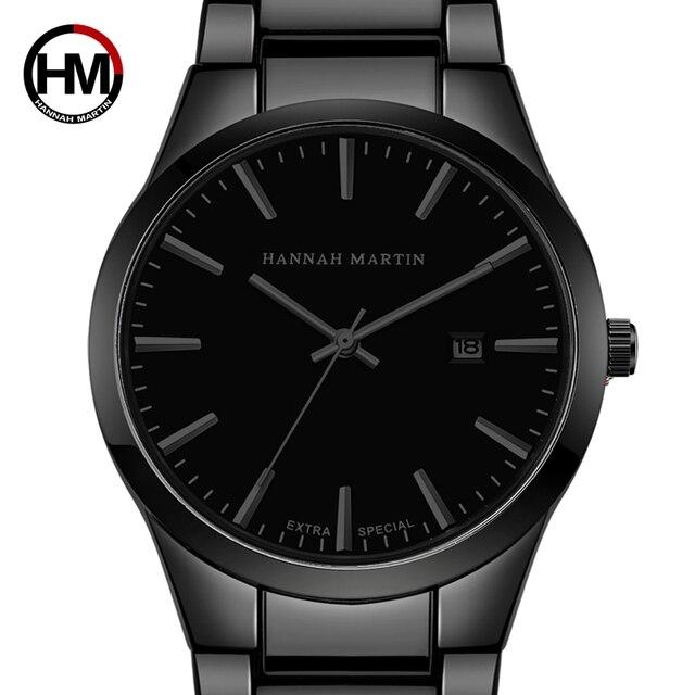 be7ca52978c Os homens Assistir Top Marca de Luxo Calendário Aço Inoxidável Relógios de  Quartzo Negócio Da Moda
