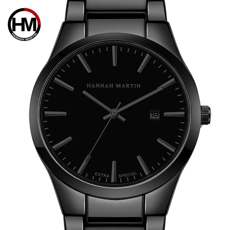 Relógio masculino relógio de pulso de quartzo de aço inoxidável de luxo de marca de topo de negócios de moda completa preto à prova dwaterproof água relógios relogio masculino
