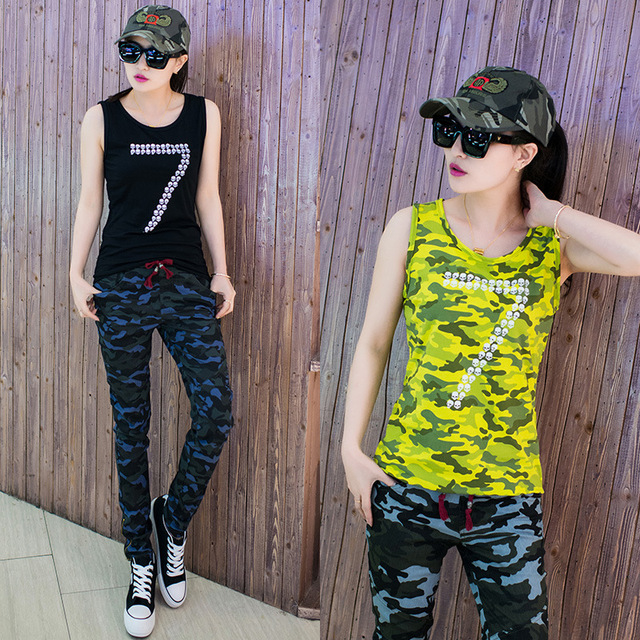 Vrouwen Tank Tops Mode Camo Mouwloze Tanks Vest Tops Vrouwelijke ronde Hals Losse T-shirt Dames Vest Singlets Basic Cami Blusas