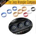 3 PC Liga de Alumínio Tampas da Tomada De Ar Interior Ar Condicionado Saída de Ventilação Da Tampa Da Guarnição para Jeep Wrangler Compass Patriot 07-15