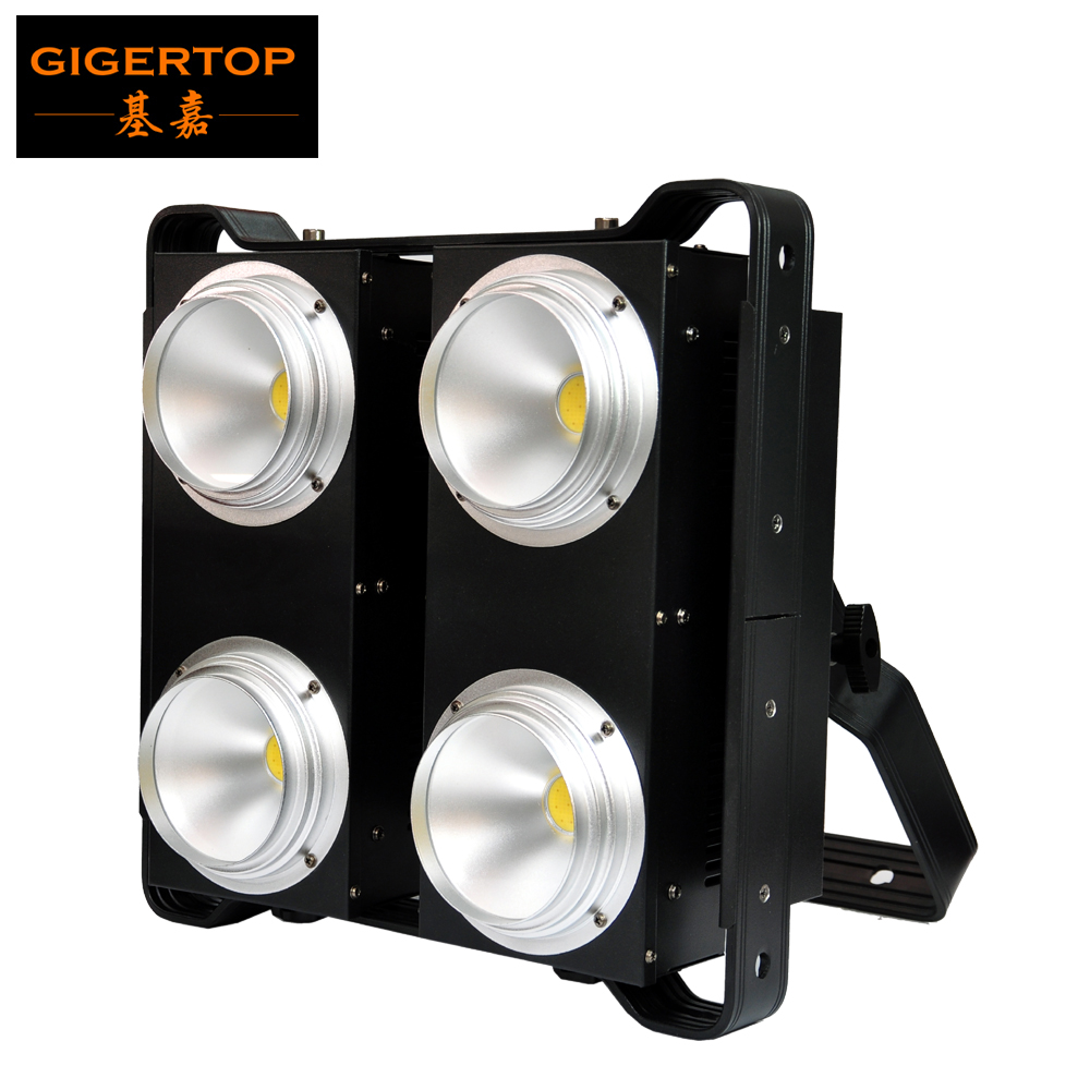 TIPTOP COB LED BLINDER 4 Warm White/Cold White/2in1 PWM Dimming 4x100W Flicker Free Silent Fan 4 Eye Blinder Light Party Club