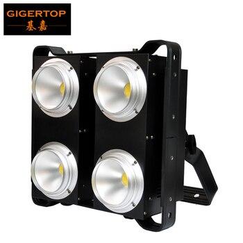 TIPTOP COB LED BLINDER 4 Warm Wit/Koud Wit/2in1 PWM Dimmen 4x100 w Trillingsvrije stille Ventilator 4 Eye Blinder Light Party Club