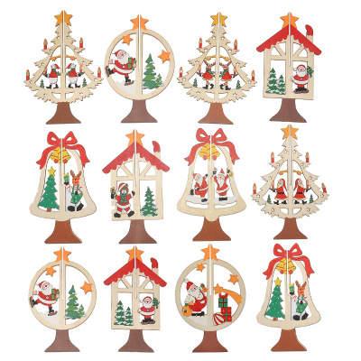 5 Pcs Lote Criativo Cor Bordo Gravura Esculpida Arvore De Natal De
