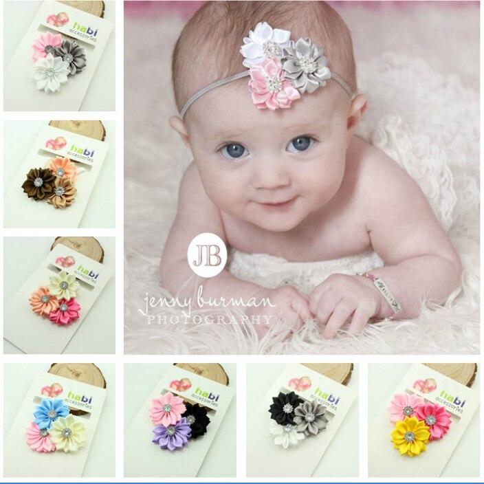 New Arrival 3 Sun Flower Kids Headbands Toddler Girl Elastic Safe Hair Band Fancy Dress Fit Headwear Baby Hairband Accessories