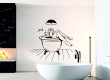 Free Shipping Wall Decals Woman In Bathroom Sexy Mural Sticker Home Special Decor Salon Art Shower Decorative Decal Q-30