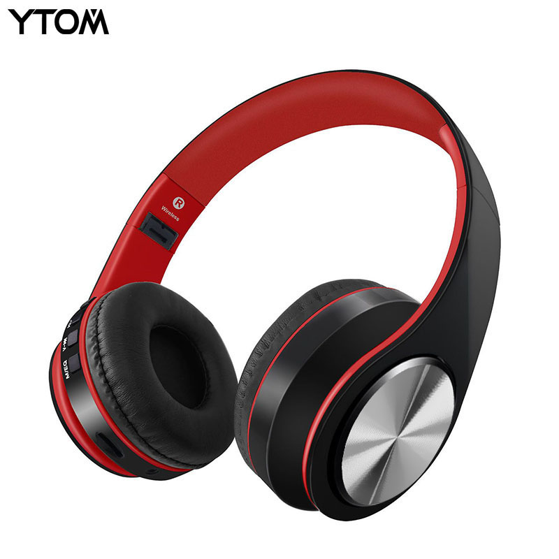 YTOM Fashion HOT sale Bluetooth headset headphones Foldable wireless headset earphone with mic for phone xiaomi iphone earbuds 100% original bluetooth headset wireless headphones with mic for blackview bv6000 earbuds