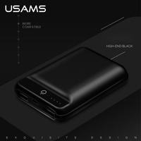 USAMS US CD22 10000mAh Dual USB Small External Battery Charger Backup Power Bank Station For IPhone