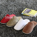 2017 Spring Autumn Winter Travel Aviation Hotel Beauty Salon Home Cotton-Padded Slippers Indoor\Floor Slippers  Free Shipping