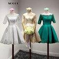 New girls blanco vestidos de cóctel de encaje personalizado 2016 señora short prom dress formal del banquete del banquete de boda vestidos vestido de soiree