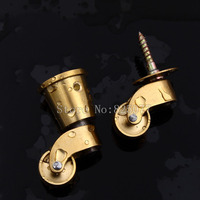 2PCS European Antique Copper Pulleys Sofa Wheel Furniture Swivel Chair Universal Wheel KF1018