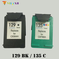 For HP 129 135 Ink Cartridge For HP Deskjet 5940 5943 D4163 6940 6983 Photosmart 2570