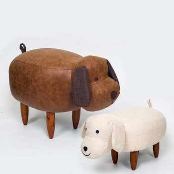 Chpermore Cute animal dog hippo Children Ottomans Kindergarten Kids shoe bench Multifunction Simple Chair - DISCOUNT ITEM  38% OFF All Category