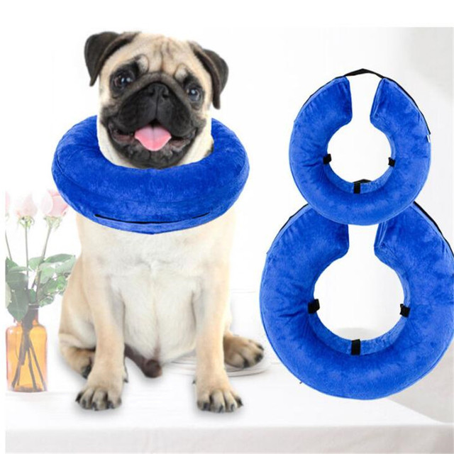 Pet Inflatable Protective Collar Adjustable Removable Wahsable Dog Cat Recovery Surgery Wound Healing Medical Beauty Neck Cover