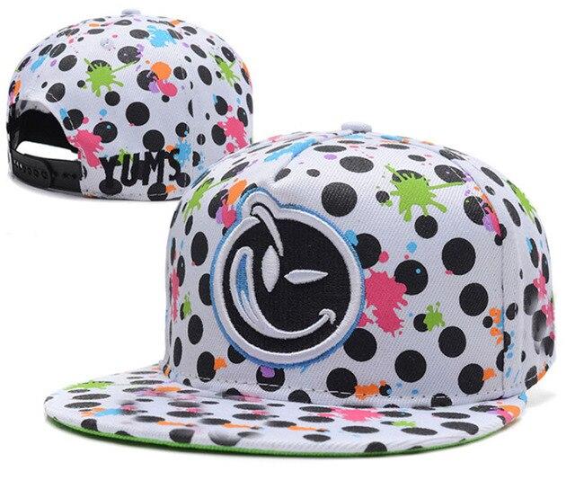 New arrival Yums face snapback hats for men   women polka dot popular hip  hop cap adjustable baseball caps swag sun hat gorras e58b07dd14f